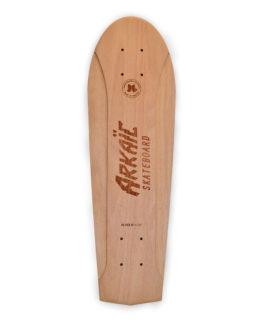 No-kick vintage skateboard arkaic skateboard chillboard cruiser made in france arkaic concept