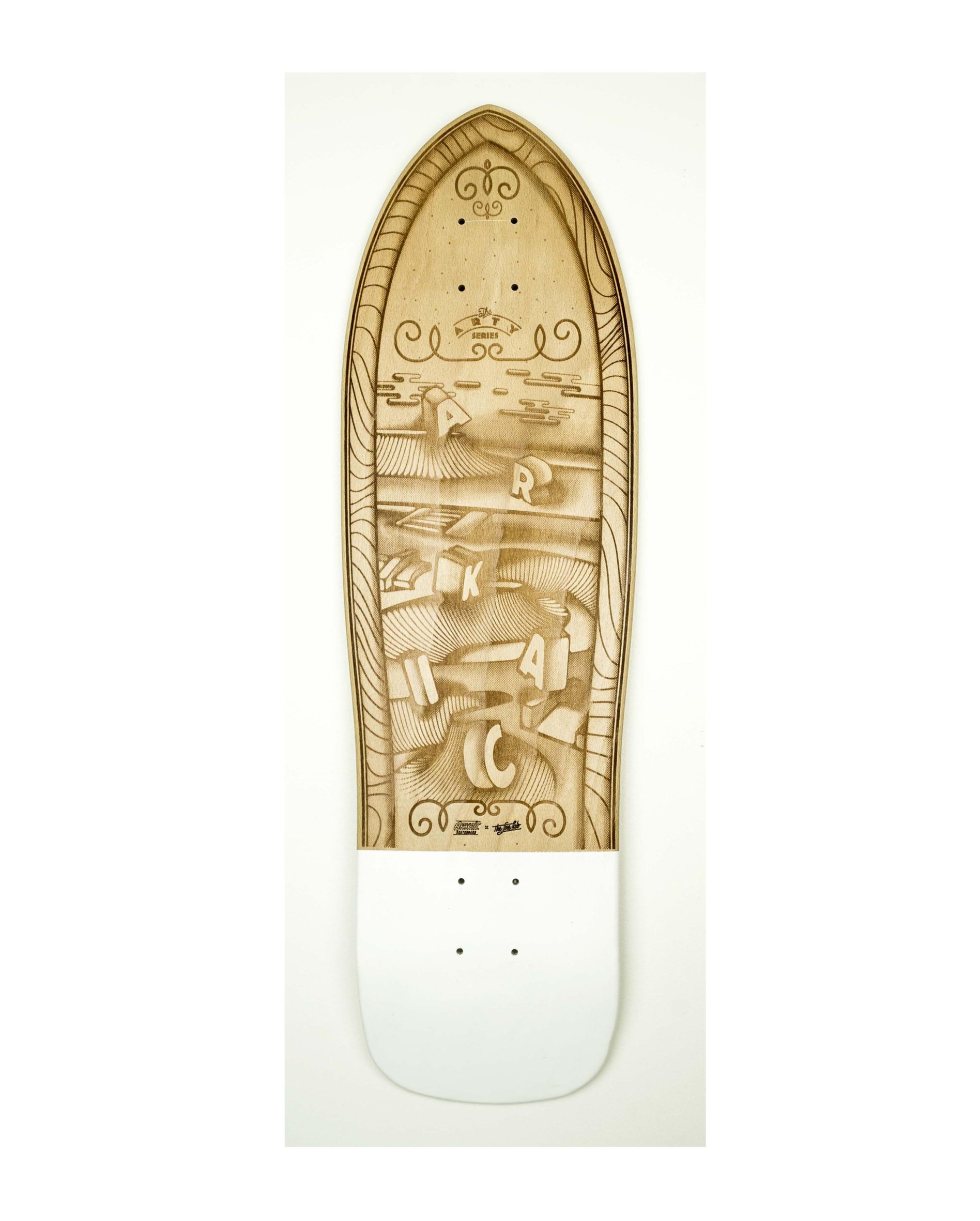"The Fine Lab 9"" SkateShop Lyon Cruiser Arkaic Skateboard"