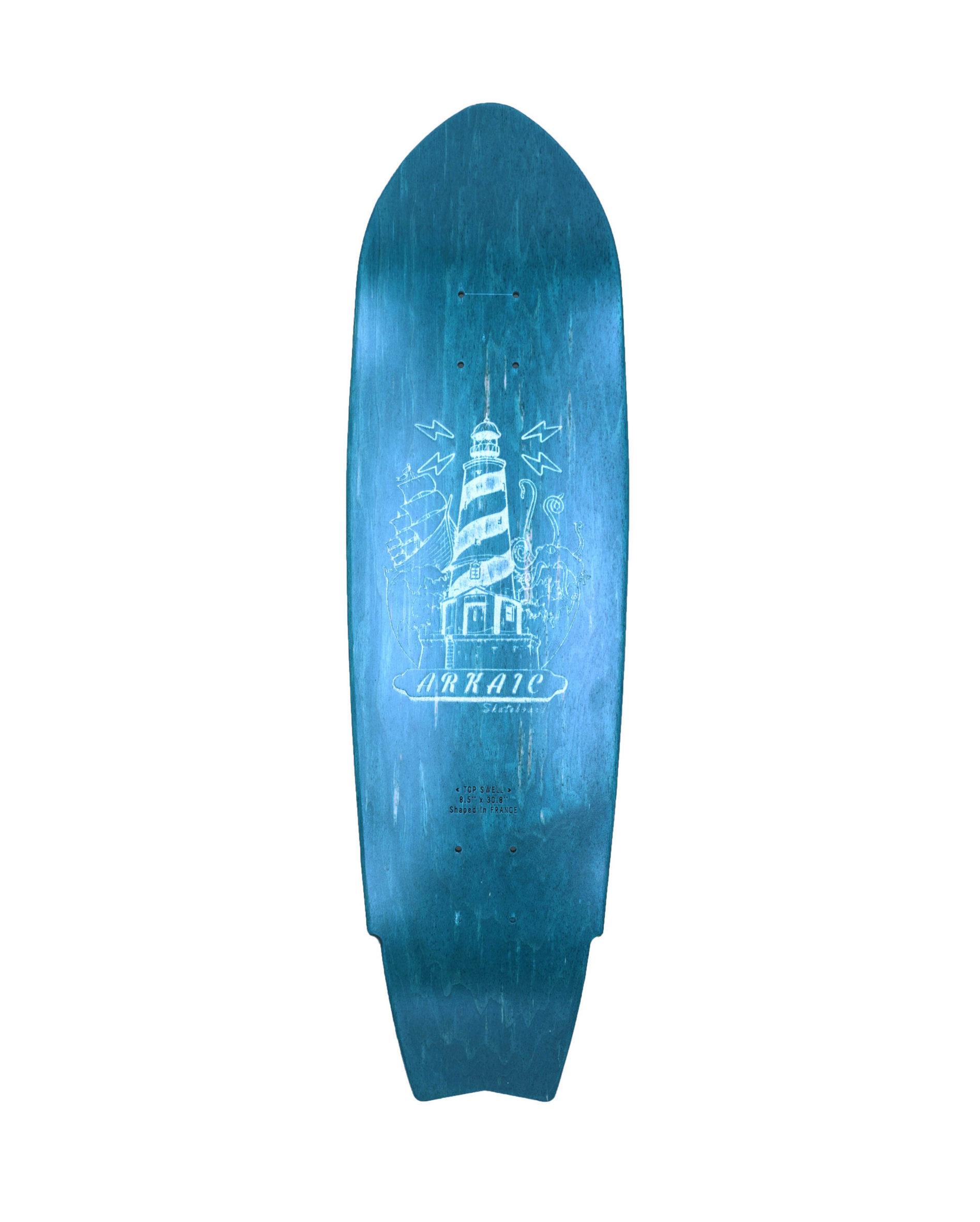 """Top Swell 8.5"""" SkateShop Lyon Cruiser Arkaic Skateboard"""