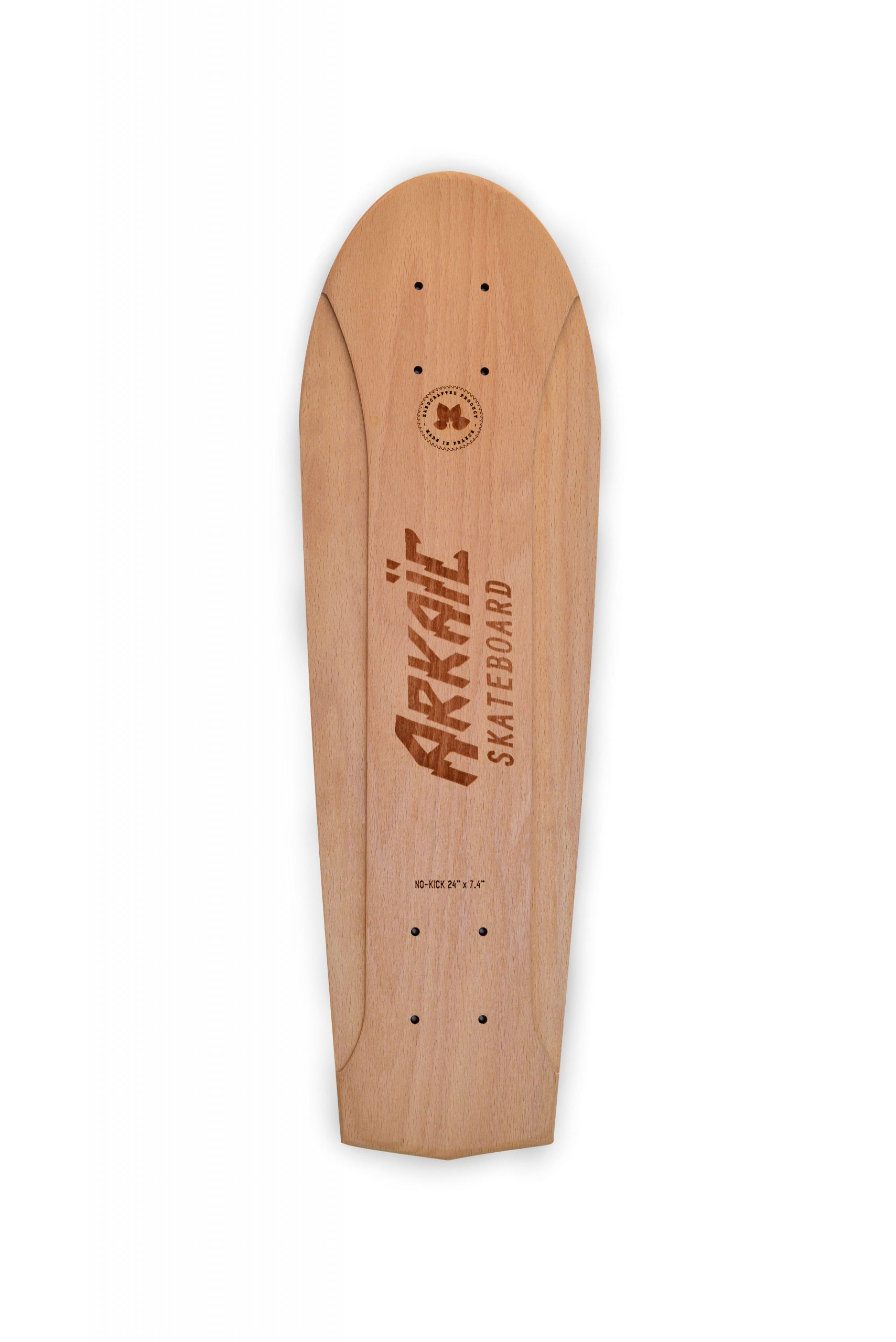 No-kick vintage skateboard arkaic skateboard chillboard cruiser made in france arkaic concept