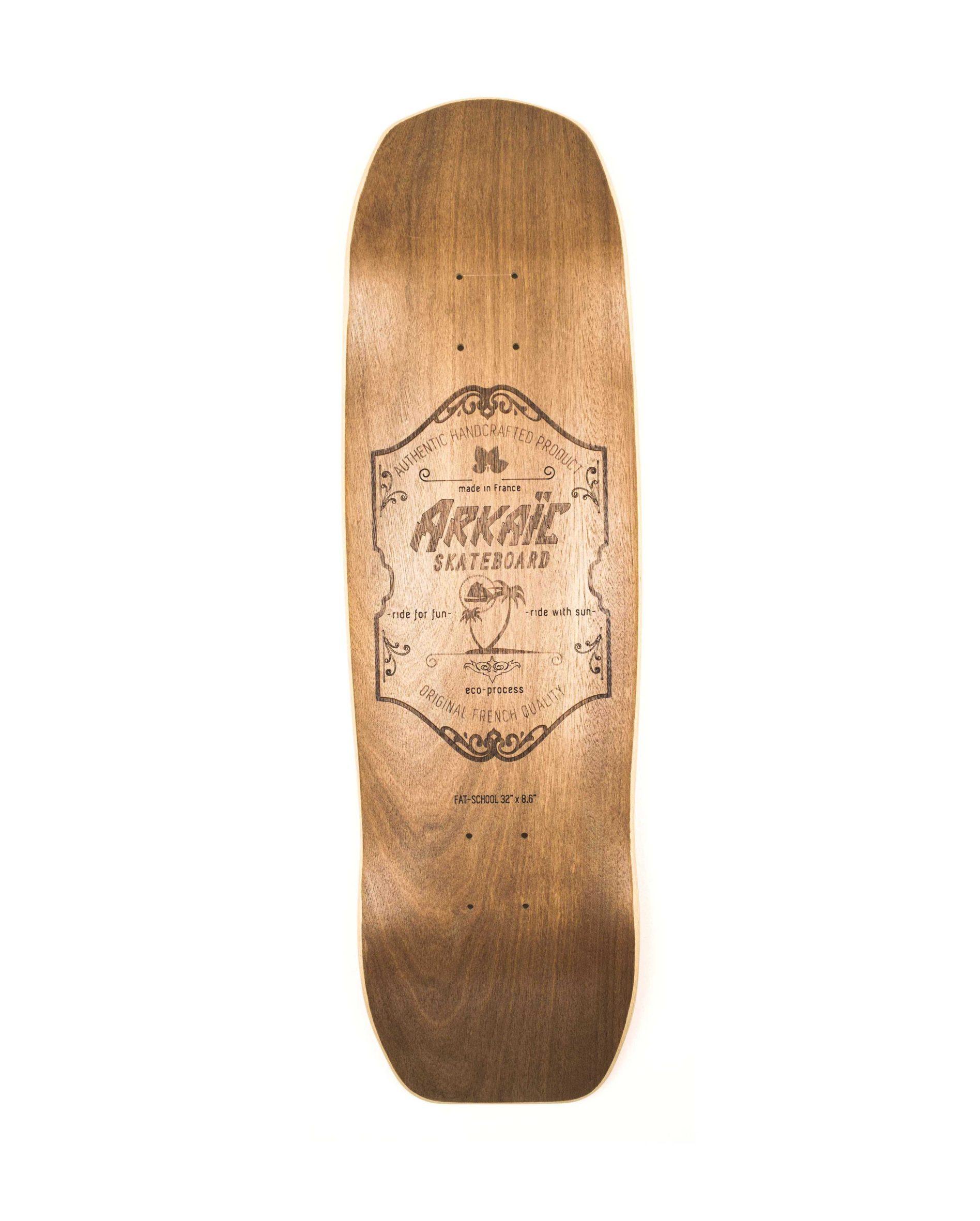 """Fat School 8.6"""" SkateShop Lyon Cruiser Arkaic Skateboard"""