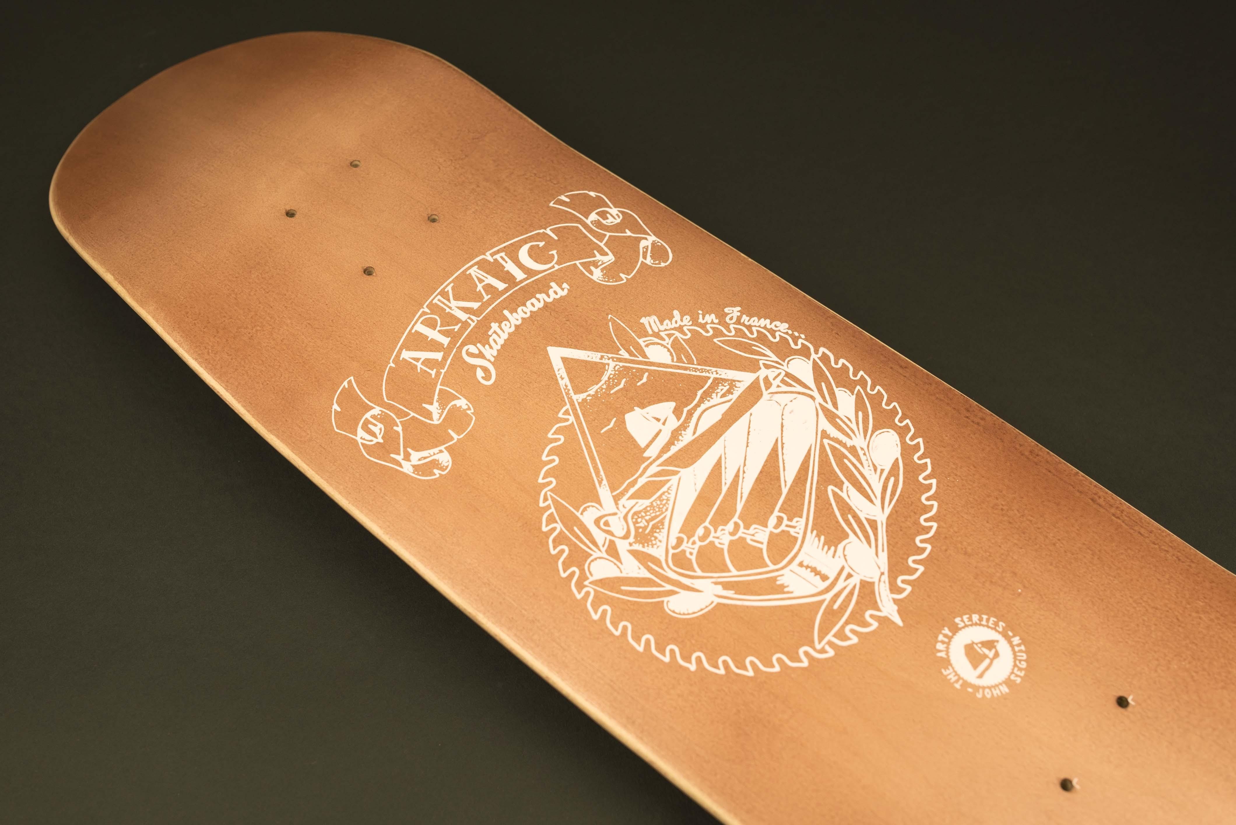 "Rock N Roots 8.4"" SkateShop Lyon Cruiser Arkaic Skateboard"