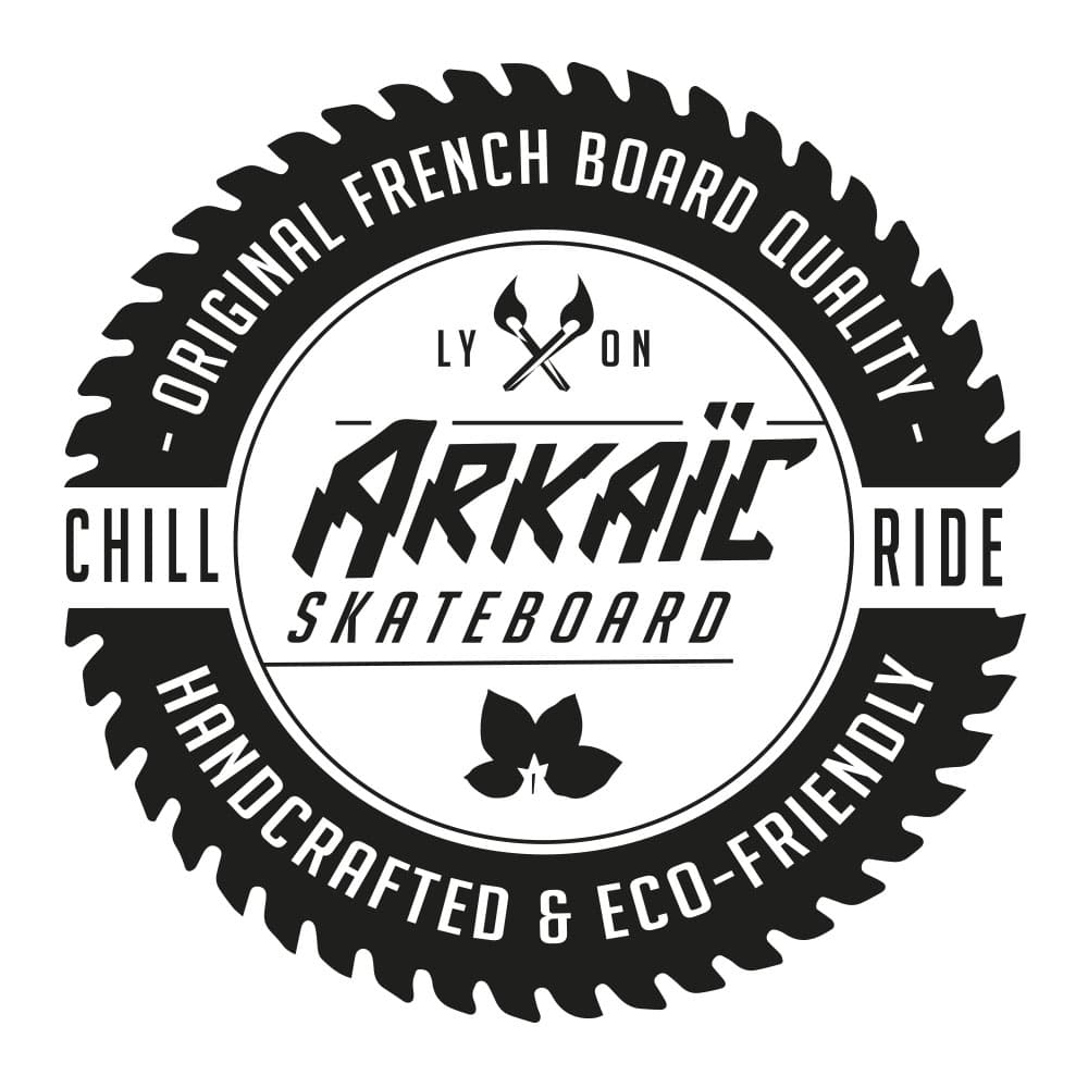 Visuel Logo Arkaïc Skateboard made in France arkaic concept skate