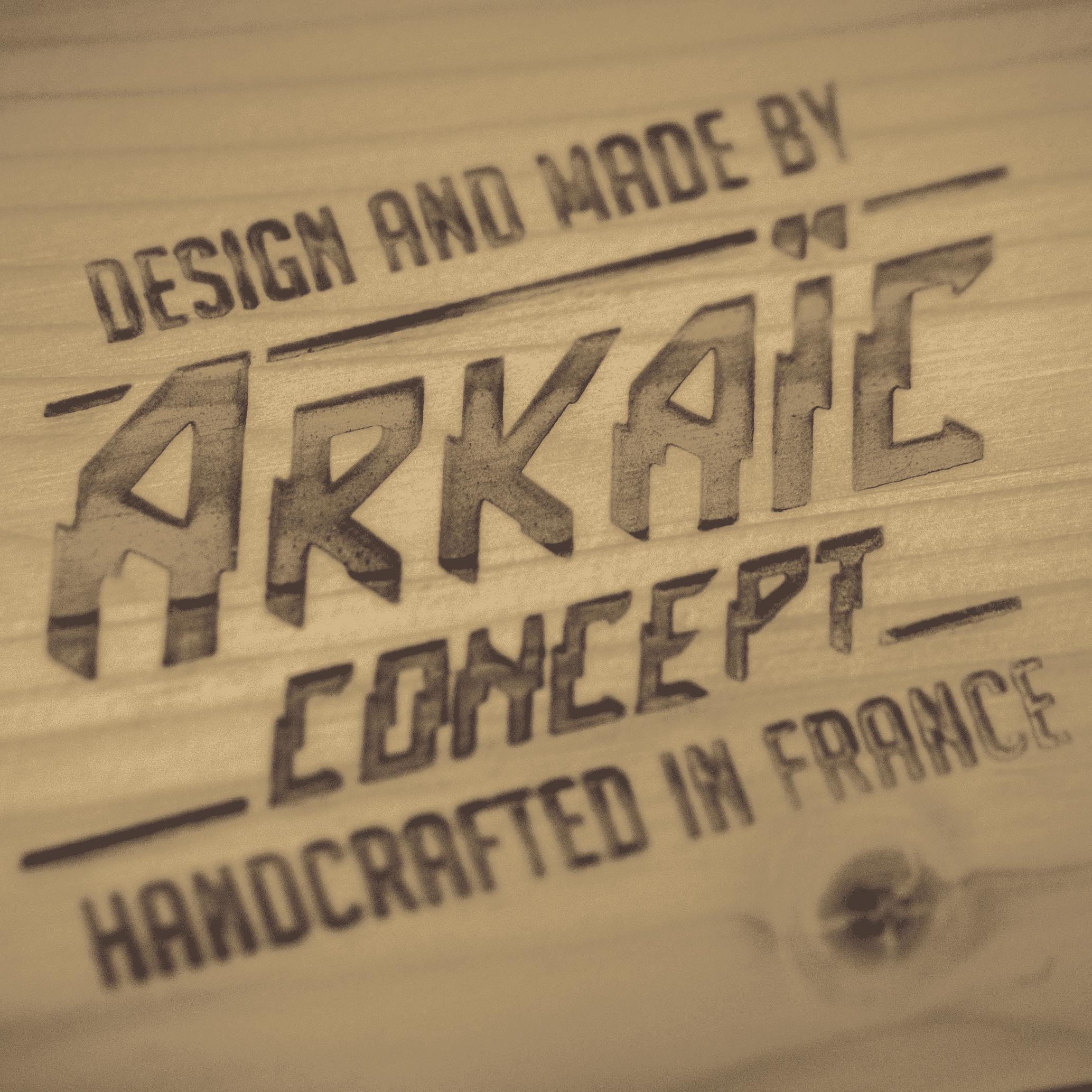 Atelier de production de skateboards arkaic concept Collection 2019 made in france & eco-friendly france lyon gravure laser lyon caluire atelier arkaic skateboard