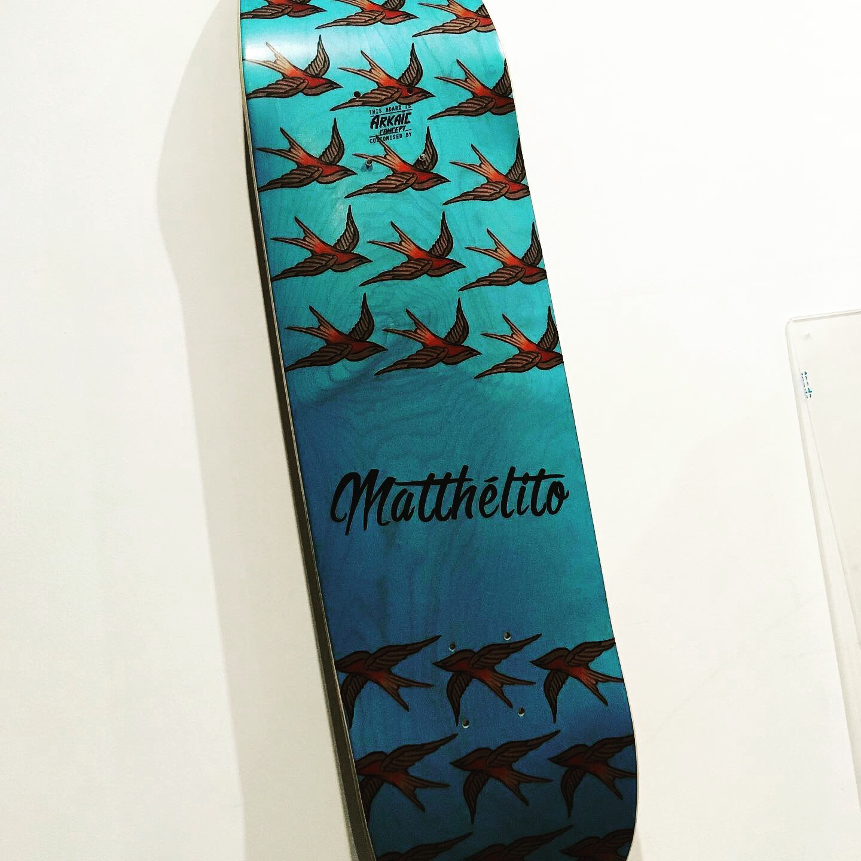 Skateboard arkaic skateboard made in france eco responsable eco conçu full print heat transfert impression uv 3d caluire lyon france