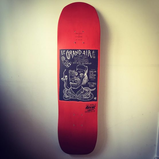 Skateboard arkaic skateboard made in france eco responsable eco conçu 4-3 heat transfert impression uv 3d caluire lyon france